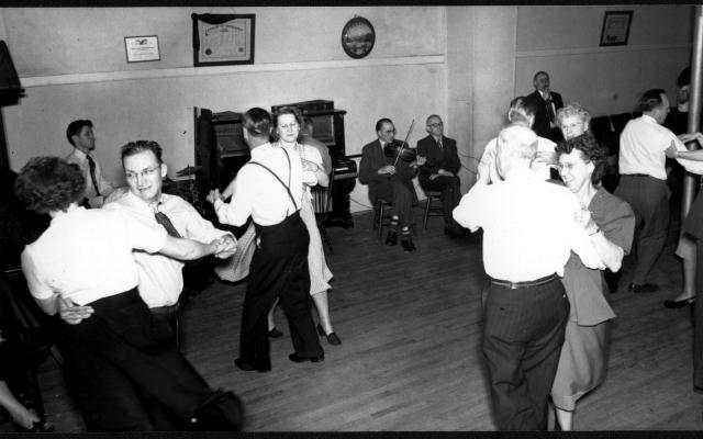 Old Square Dance in a Hall