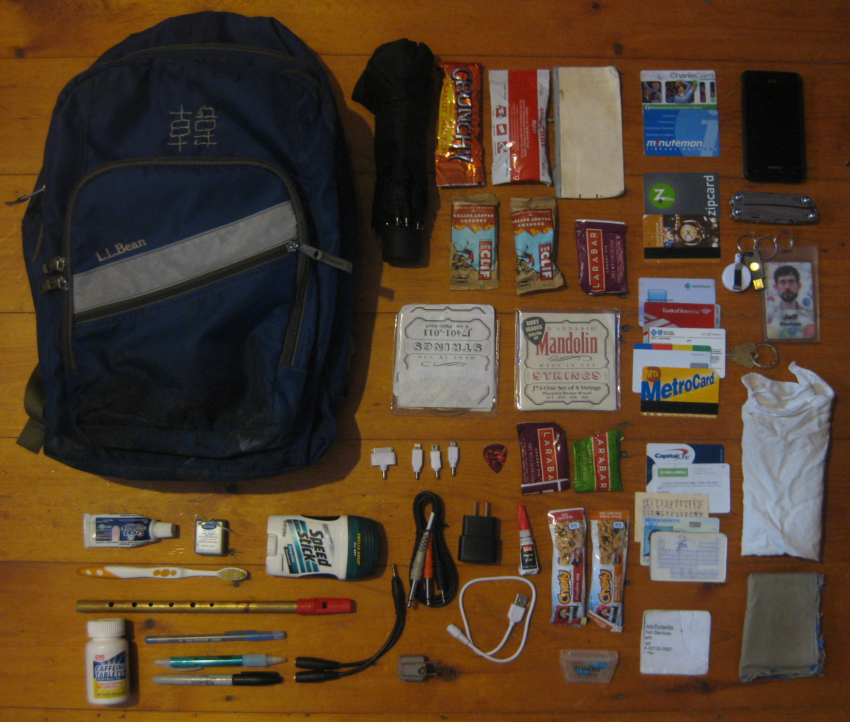 In My Pockets I Keep Things I Really Need To Have With Me Or That I Use  Often, High Priority Storage, While My Backpack Has The Rest: