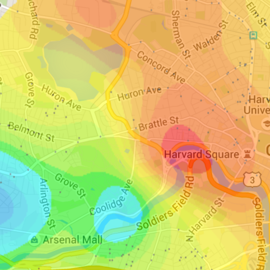 Apartment By Map: Gaussian Apartment Price Map