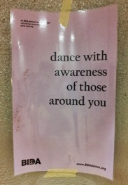 dance with awareness of those around you