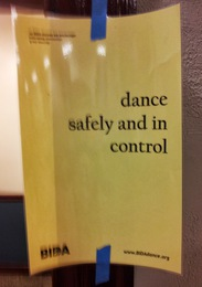 dance safely and in control