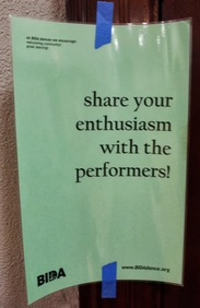 share your enthusiasm with the performers!