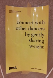 connect with other dancers by gently sharing weight