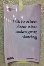 talk to others about what makes good dancing