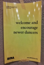 welcome and encourage newer dancers