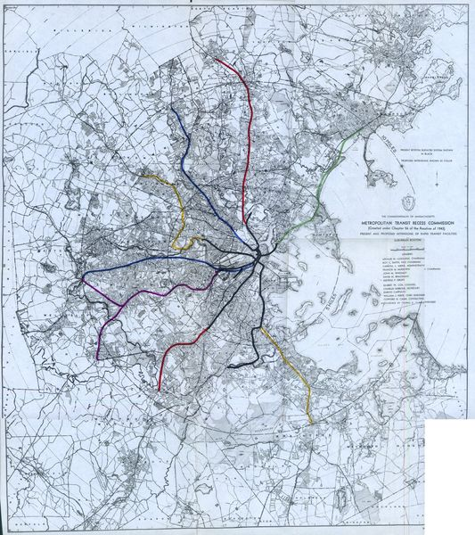 1945 map of possible mbta expansions