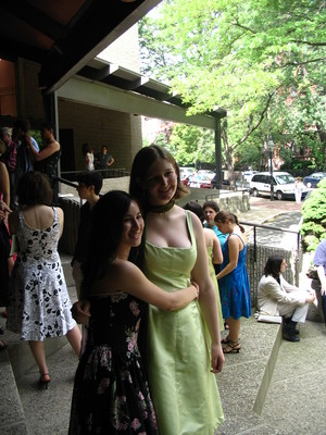 Mich and Lily at their graduation