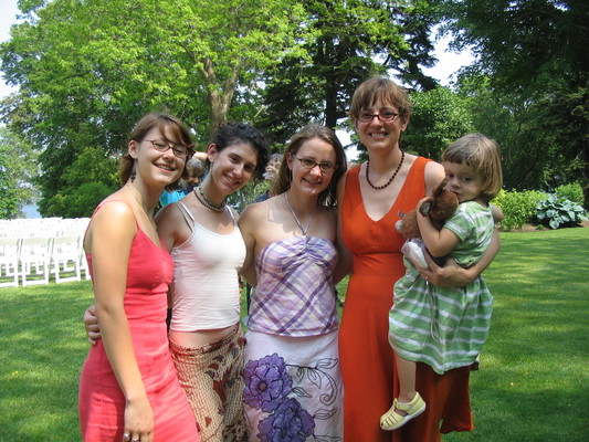 Abby and Eric's wedding -- Claire, Rose, Susanna, Claudia, Fiona