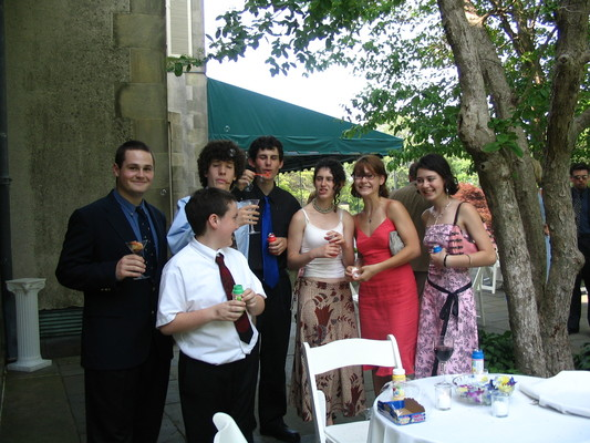 Abby and Eric's wedding -- Stevie, Mike, Nathan, Jeff, Rose, Claire, Mary