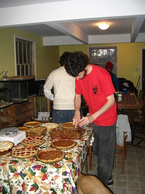 Jeff with thanksgiving pies