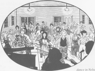 1977 Nelson Contra Dance Woodcut