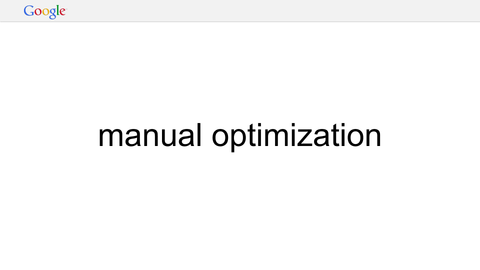manual optimization
